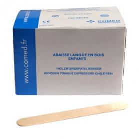 Abaisse-langue en bois enfant par boîte de 250