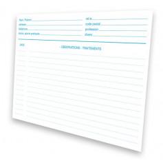 Fiche médicale patient papier 1 volet