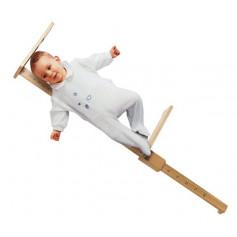 Toise bébé en bois