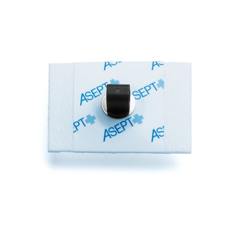 Électrode à pontet métallique Asept pour ECG