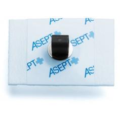 Électrode à pontet métallique Asept pour ECG - Sachet de 60