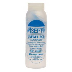 Gel de contact pour ECG ou défibrillateur Uni'Gel Asept