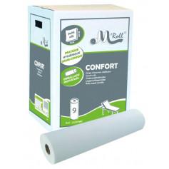 Drap d'examen ouaté M'Roll Confort 50 x 35 cm - 9 rouleaux