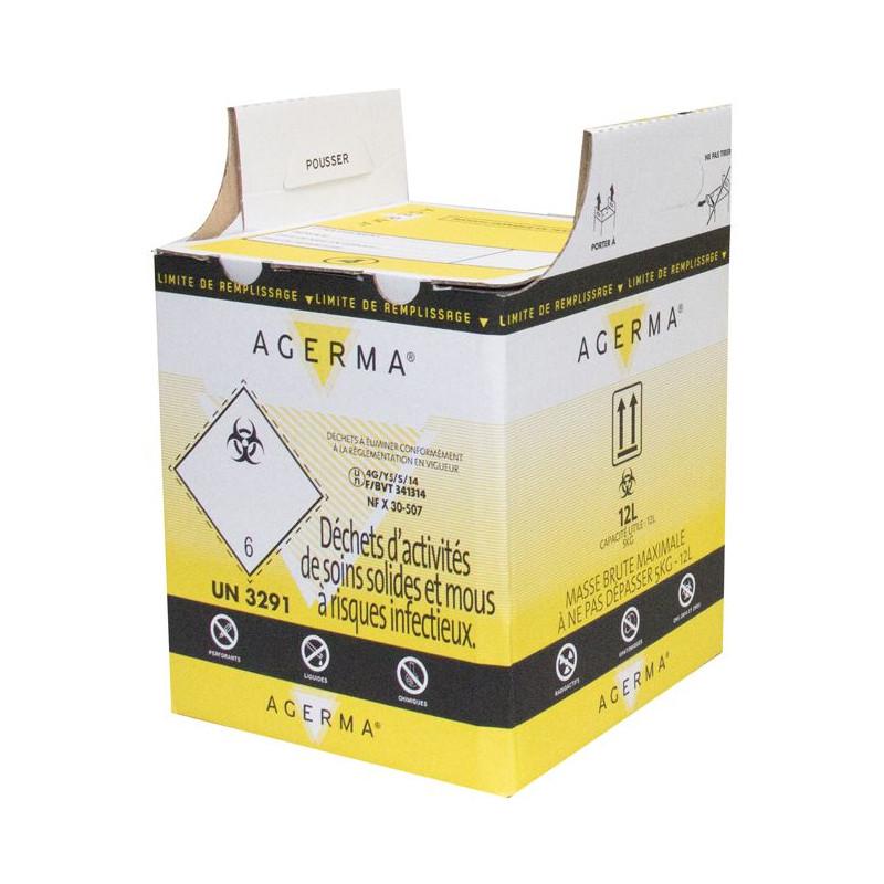 Conteneur en carton Agerma® 12 litres pour DASRI