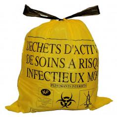 Sacs à déchets DASRI à lien coulissant -- Bobine de 25 sacs