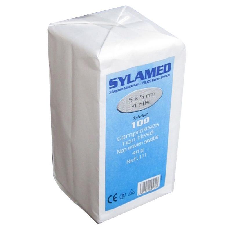 Compresses non tissées non stériles Sylamed 5 x 5 cm