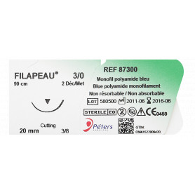 Aiguille à suture non résorbable Filapeau® monofil de polyamide