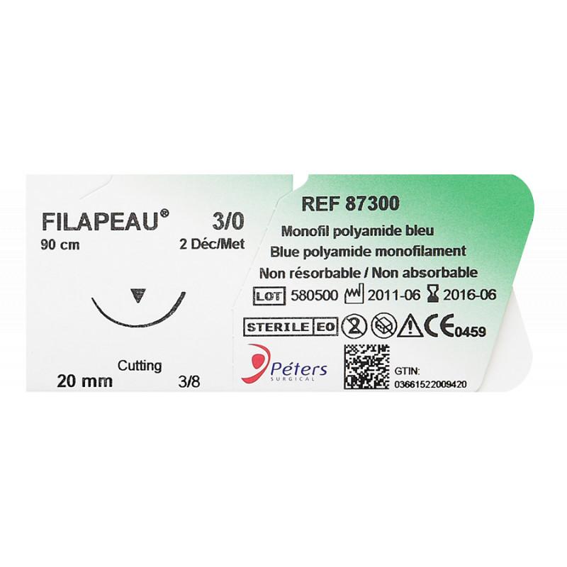 Suture chirurgicale non résorbable Filapeau® monofil de polyamide