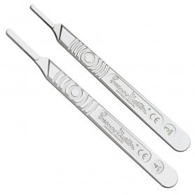 Manche de bistouri chirurgical Swann-Morton en acier inoxydable - N°3 ou 4