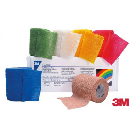 Bande de contention cohésive élastique 3M™ Coban™ - Couleurs standards