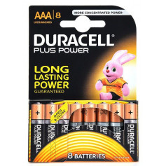 Piles alcaline Duracell Plus Power AAA - paquet de 8