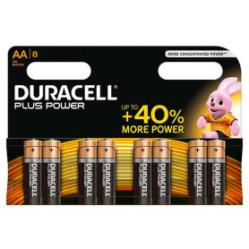 Piles alcaline Duracell Plus Power AA - paquet de 8