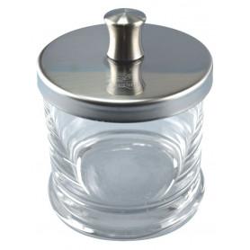 Bocal pour coton en verre avec bouchon inox