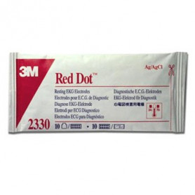 ELECTRODES ECG DE DIAGNOSTIC 3M RED DOT
