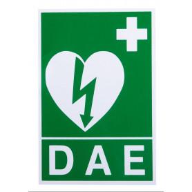 Panneau de signalisation pour défibrillateur, les 5 panneaux