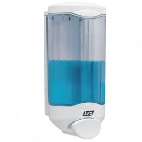 Distributeur de savon / gel manuel 1L avec bouton poussoir Crystal