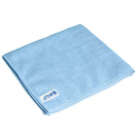 "Lot de 5 Microfibres  toutes surfaces ""basic"" bleue 38x38 cm"
