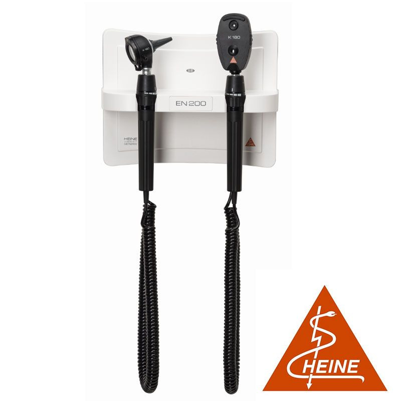 Centre de diagnostic Heine EN 100® avec otoscope et ophtalmoscope Heine K180