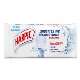 Lingettes désinfectantes pour WC Harpic sans javel