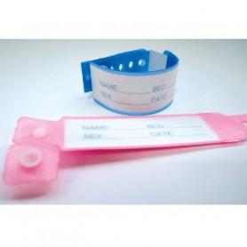 Bracelets d'identité pédiatrique avec carte à insérer (500 bracelets)
