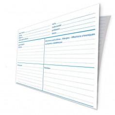 Fiche médicale patient papier 2 volets