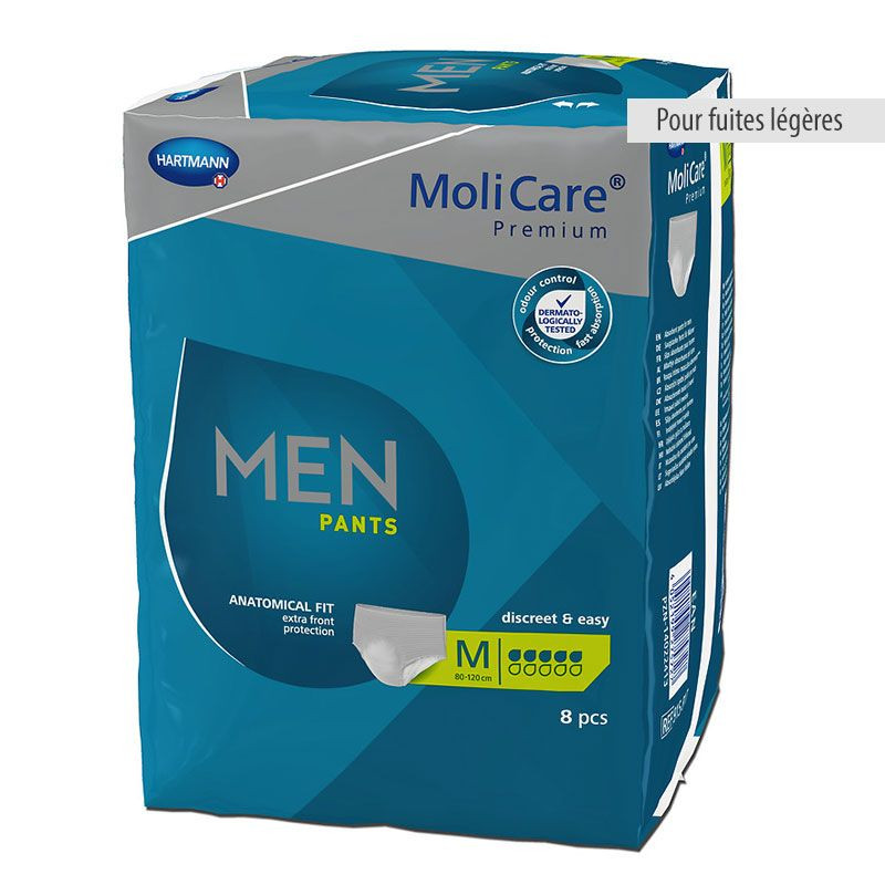 Slips absorbants Molicare Premium pour hommes 5 et 7 gouttes