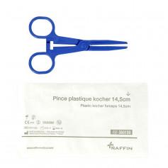 Pince Kocher stérile en plastique 14,5 cm
