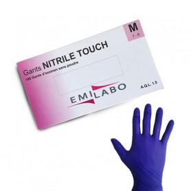 Gant d'examen nitrile TOUCH EMILABO