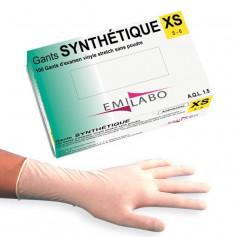 Gant d'examen synthétiques vinyle stretch sans poudre EMILABO