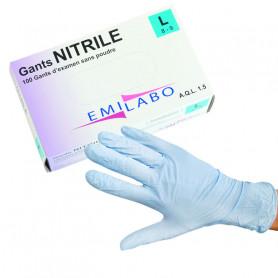 Gants d'examen Nitrile non poudrés non stériles
