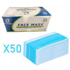 Masque de protection type chirurgical FFP13 plis
