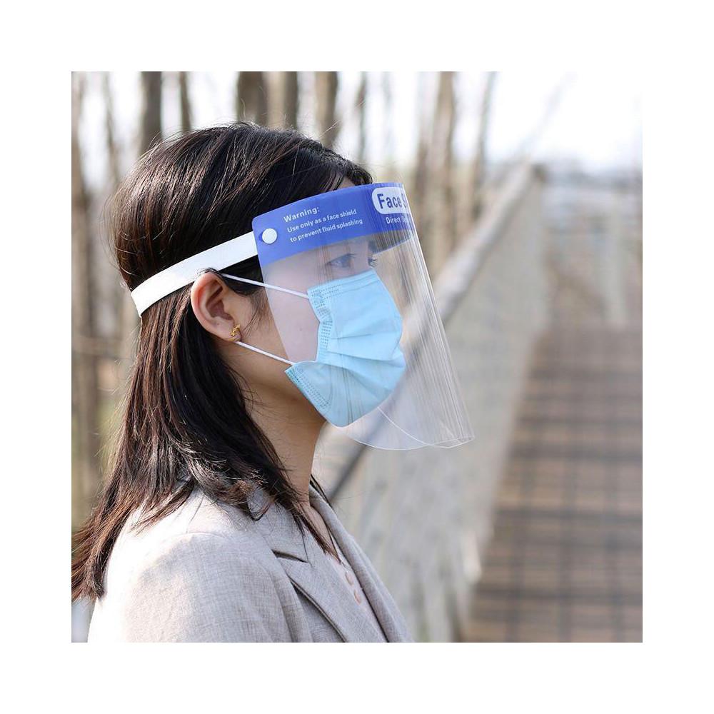 Packs de Clair Visière de protection bleu mousse bandeau visière Lot-Vendeur Britannique
