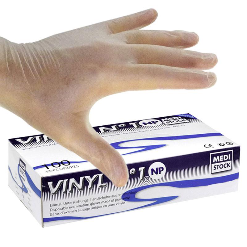 Gants d'examen vinyl sans poudre
