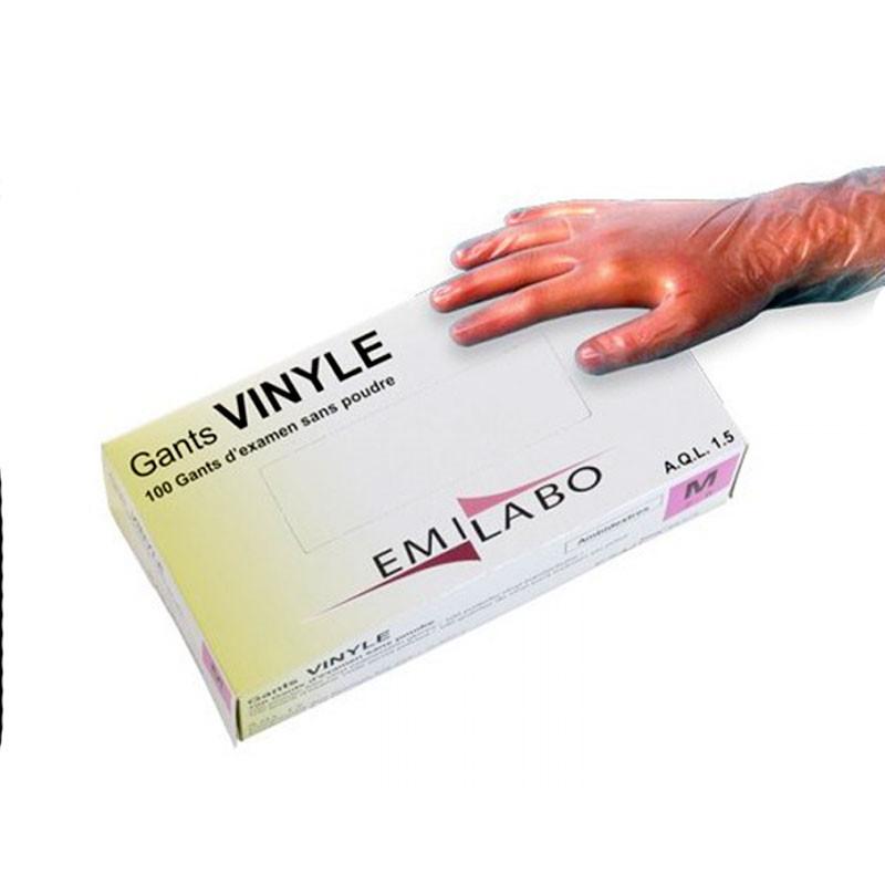 Gant d'examen vinyle Norm sans poudre EMILABO