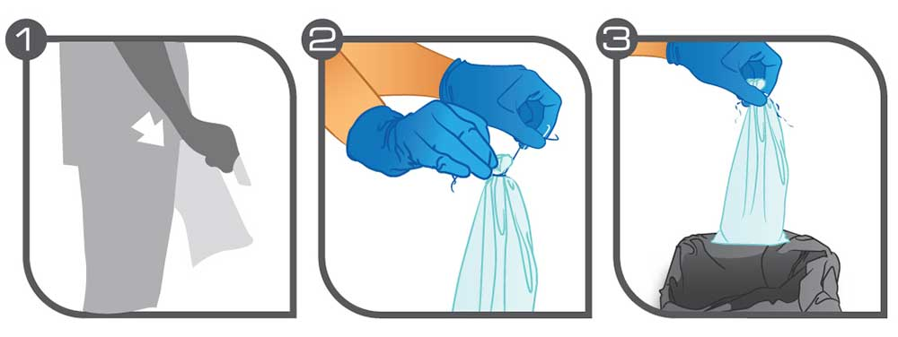 sac urinal pour pistolets