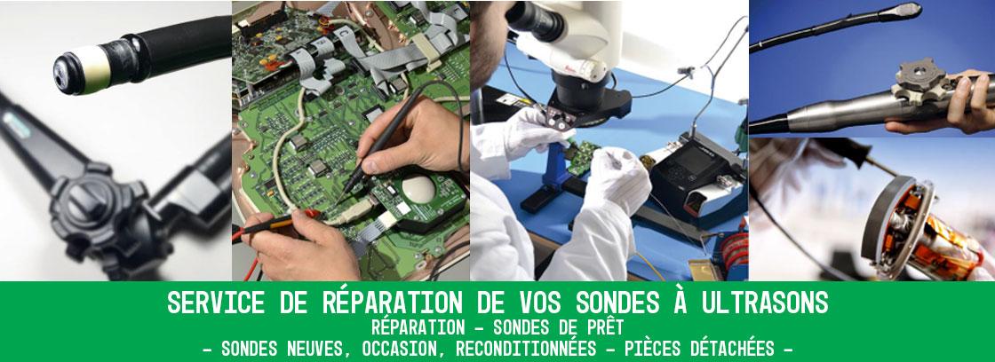 Visuel réparation de sonde à ultrasons