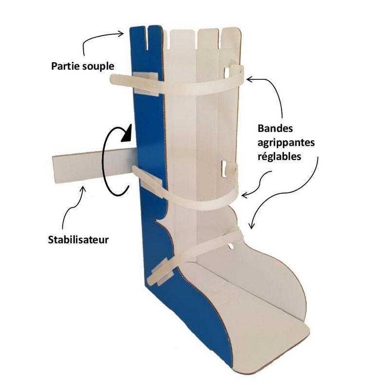 Attelle orthese pour pied et cheville