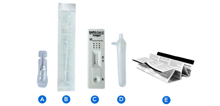 Composition des tests antigéniques