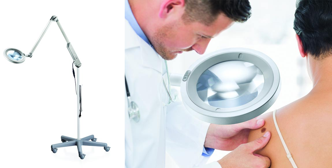 Lampe loupe mobilier médical
