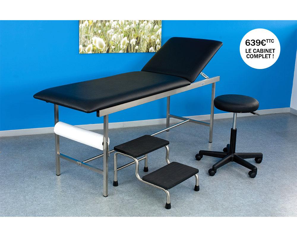 Mobilier médical complet pour salle d'examen