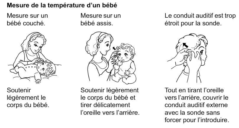 Prise de température avec un bébé