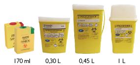 contenant dasri de 170 ml à 1 l