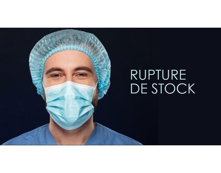 Rupture de stock sur les masques de protection dû au cornavirus.