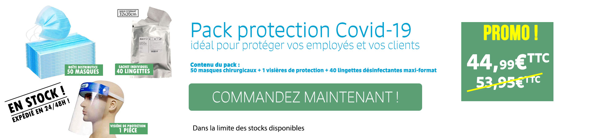 Pack de protections contre la covid-19